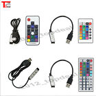 3/17/24/44 Key USB Remote Controller For 5V 5050 RGB LED Strip Light TV Back