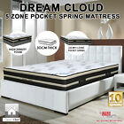 Luxury  5 Zone Pocket Spring Mattress, Single, Double, Queen, King 30cm Thick