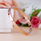 Gold-plated Stainless Steel Women's Cuff Bangle Jewelry Crystal Bracelet NEW