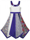 Girls Domino Girl DG Polka Panel Flare Hanky Hem Sun Dress 3 to 11 Years