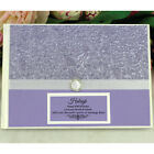 40th Birthday Guest Book Memory Album - Purple - Add a Name & Message