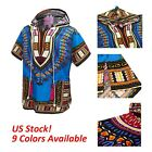 Summer Unisex African Dashiki Ethnic Dress Boho T-shirt Casual Hippie Tops