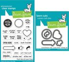 Lawn Fawn Push Here - Clear Stamp (LF1415) or Craft Die (LF1416)