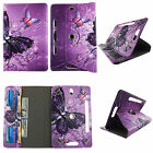 Universal Tablet Case 8 inch Folio Stand Leather Rotating Cover Card Cash Slots