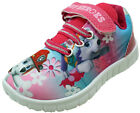 Paw Patrol Pup Heroes Girls Pink Slip On Touch Fasten Pumps Kids Trainers