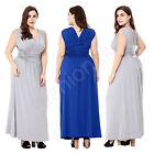 Women's Plus Size V Neck Formal Bridesmaid  Cocktail Evening Prom Gown  Dresses