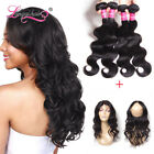 Brazilian Wavy Hair 4 Bundles with 360 Lace Frontal 100% Unprocessed Human Hair