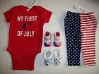 Old Navy Stepping Stones Bodysuit Pants Shoes Socks Size 6-12 Mos July 4th NWT