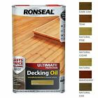 Ronseal Ultimate Protection Decking Oil Garden Waterproof Sun Rain Protector 5L