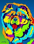 Made in USA Multi-Color Chow Chow Dog Breed Matted Print Wall Decor