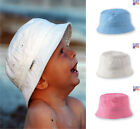 Bucket Sun Hat 100% Cotton Newborn Baby Toddler Infant Boys and Girls in 3 sizes