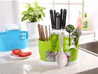 Kitchen Spoon Chopsticks Fork Knife Draining Rack Storage Tool Holder Organizer