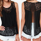 CHIC New Women's Summer Vest Top Sleeveless Blouse Casual Tank Tops T-Shirt Lace