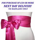 SATIN SASHES Chair Cover Fuller Bow Decoration Wedding Banquet Chic HOT PINK