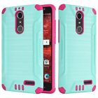 For ZTE Blade Spark Grand X4 Brushed Dual Layer Slim Armor Hybrid Cover Case