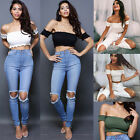 Summer Women Casual Off Shoulder Vest Blouse Sleeveless Crop Tops Ladys Clothing