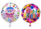 """18"""" INCH FOIL HAPPY BIRTHDAY ROUND HELIUM BALLOONS, AIR OR HELIUM BALOONS"""