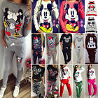 Mickey Minnie Themed Womens Tracksuits Hoodies Sweatshirt Tops Pants Sports Suit