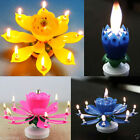 Magical Flower Happy Birthday Blossom Lotus Music Candle Romantic Party Gift