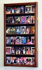 36 Sport Trading Cards Card Display Case Cabinet Holder Wall Rack 98% UV- Locks