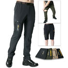 Mens Detachable Outdoor Anti-UV Quick Dry Elastic Pants Camping Stretch Trousers