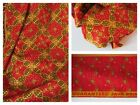 BATIK Fabric 100% COTTON Luxury Red Gold Wide QUILTING Backing CHEAP p/metre