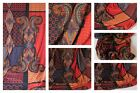 FABRIC Jersey PAISLEY Rich Red Blues MAXI Dress STRETCH Viscose Material