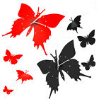 Black /Red Modern Artistic Home Kitchen Living Room Butterfly Wall Clock