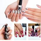 Metallic Mirror Shimmer Nail Art Varnish Polish Metal Silver Shinning Pedicure