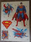 Superman Wheelie Bin A4 Self Adhesive Stickers Caravan Children Wall Fridge
