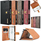 2in1 Genuine Leather Case Removable Card Flip Stand Cover For Sony Xperia XZ XZs