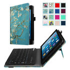 Folio Keyboard Case For Amazon Fire HD 8 7th Fit Stand Cover Magnetic Bluetooth