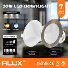10 x 10W LED DOWNLIGHT KIT DIMMABLE NON DIM WARM & DAYLIGHT WHITE & SATIN FRAME
