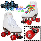 Rookie Classic White Quad Roller Skates Kids Womens Roller Derby