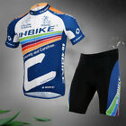 Mens Cycling Jerseys Fits Bike Shorts Gel Padded Riding Clothing Bicycle Wear