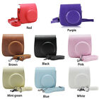 For Fujifilm Polaroid Instax Mini 8 8+ 9 Retro Leather Camera Bag Pouch Case New
