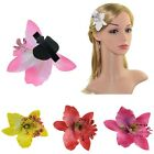 2Pcs Boho Blooming Orchid Flower Hairclip Hairpin Bridesmaid Headwear Photograph