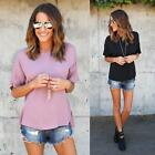 Fashion Women Loose T-Shirt Top Short Sleeve Blouse Ladies Tops Summer USPC