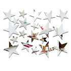 20x Star Art Removable Mirror DIY Decal Vinyl 3D Acrylic Wall Sticker Home Decor
