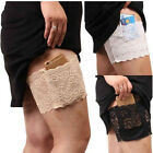 New Women Lace Non Slip Elastic Socks Anti-Chafing Thigh Bands Leg Warmers