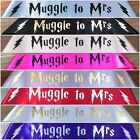Harry Potter Muggle To Mrs Personalised Hen's Night Party Sash 18 Colours