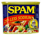 SPAM 25% Less Sodium Ready-to-Eat Meat Meal Snack, 12-Oun...
