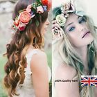 Women Girls Boho Flower Floral Hairband Headband Crown Party Bride Wedding Beach