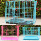 Pet Dog Puppy Cat Folding Iron Wire Cage Kennel  House With Tray