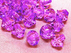 6mm 200/400/600/800/1000pcs VIOLET FACETED ACRYLIC PLASTIC BICONE BEADS TY3010