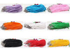 Wholesale50/100pcs Organza Voile String ribbon Cord Necklace Lobster Clasp Chain