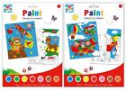 Paint By Numbers Set Child A4 - 2 Pack Space Animals or Aeroplanes Farm Painting