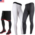 Mens Body Armour Compression Under Long Pants Base Layer Sports Tights Gym Gear