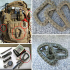 D-Ring Gear Military EDC Carabiner Backpack Hanging Hook Snap Tactical Keychain