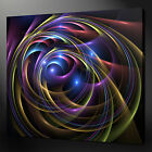 MULTICOLOUR ABSTRACT SWIRL MODERN WALL ART PICTURE CANVAS PRINT READY TO HANG